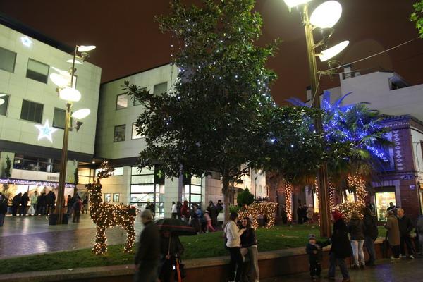 navidad luces encendido