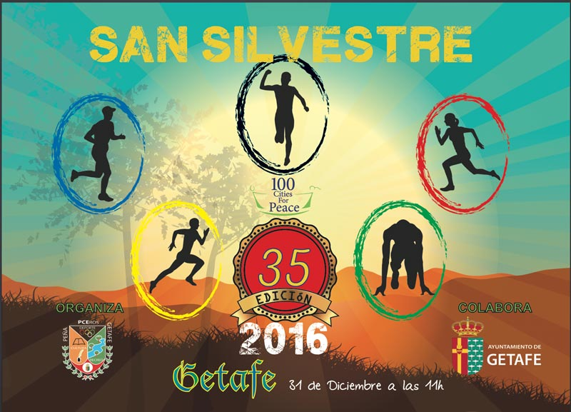 Cartel promocional de la San Silvestre