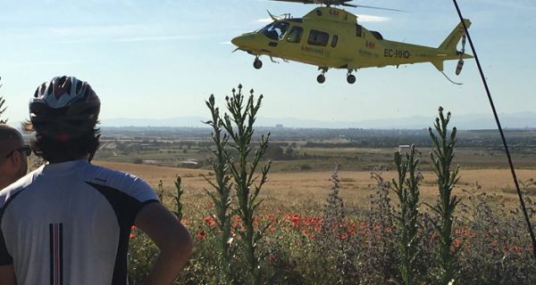 ciclista helicoptero