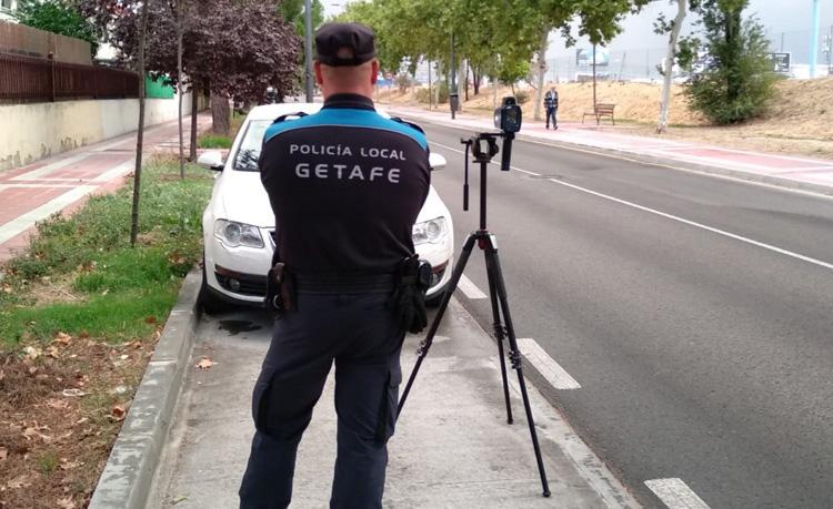 policia velocidad